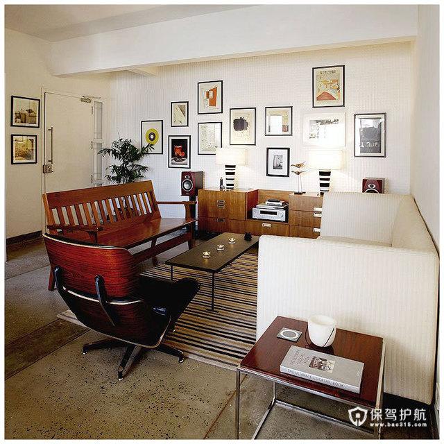 简约二居 淳朴典雅居室 海外家居,简约风格,富裕型装修,二居室装修,照片墙,沙发,茶几,客厅