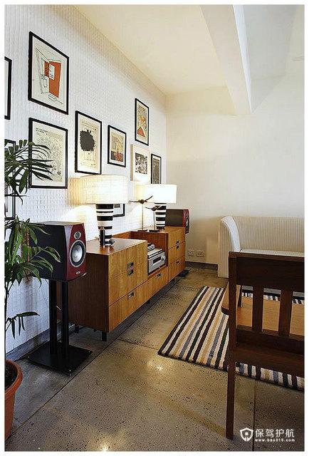 简约二居 淳朴典雅居室 海外家居,简约风格,富裕型装修,二居室装修,客厅过道,照片墙