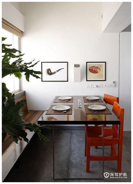 简约二居 淳朴典雅居室 海外家居,简约风格,富裕型装修,二居室装修,餐厅,餐桌,装饰画