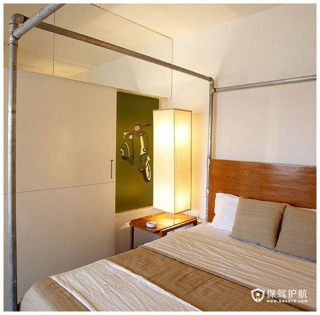 简约二居 淳朴典雅居室 海外家居,简约风格,富裕型装修,二居室装修,卧室,床,灯具