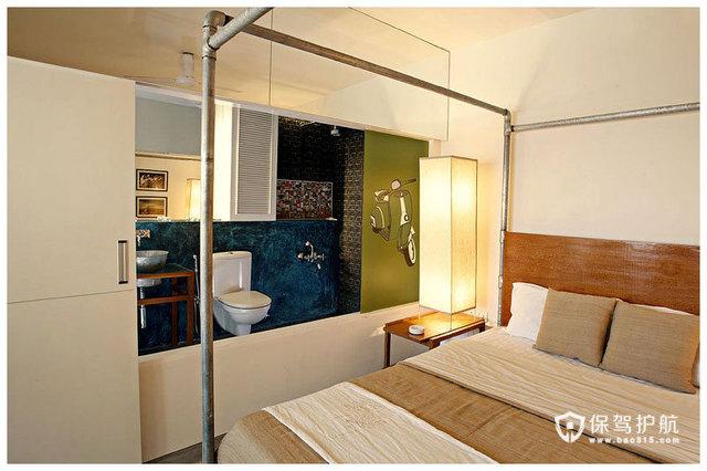 简约二居 淳朴典雅居室 海外家居,简约风格,富裕型装修,二居室装修,隔断,卧室,床