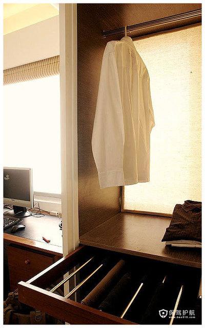 简约二居 淳朴典雅居室 海外家居,简约风格,富裕型装修,二居室装修,衣帽间