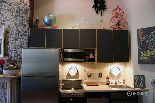 四室一厅混搭风格20平厨房装潢效果图