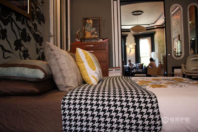 140平新古典混搭四房装卧室装修效果图