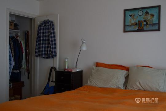 60平二室极简约卧室软装装修效果图