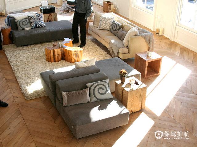 木艺家具 点缀艺术复式房