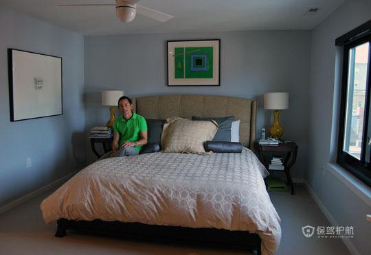 挑高层简约风 舒适怡人居 跃层装修,富裕型装修,简约风格,海外家居,卧室,简洁,床,床头柜,灯具,卧室背景墙