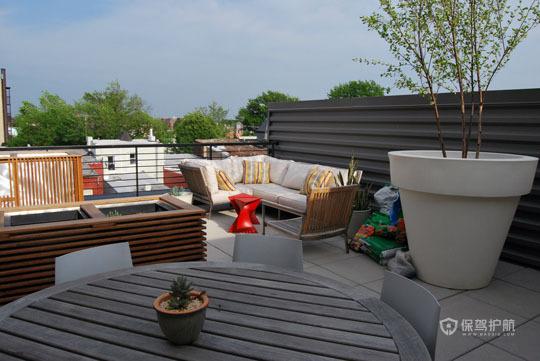 挑高层简约风 舒适怡人居 跃层装修,富裕型装修,简约风格,海外家居,露台,沙发
