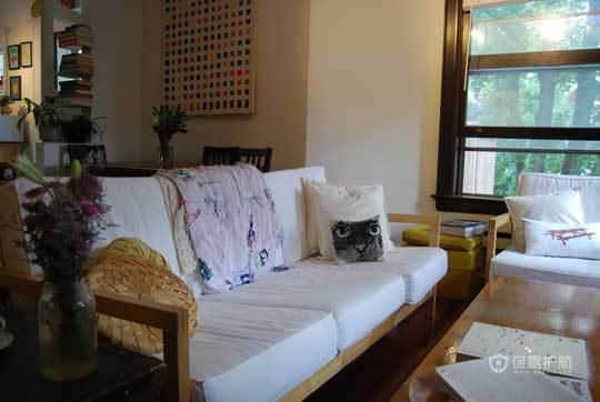 东南亚风格小户型别墅客厅特色沙发软装效果图