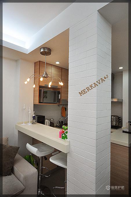 简约风格四室一厅餐厅吧台装潢效果图