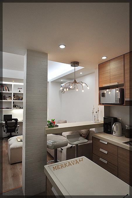 40平简约风小户型一居室厨房装修效果…