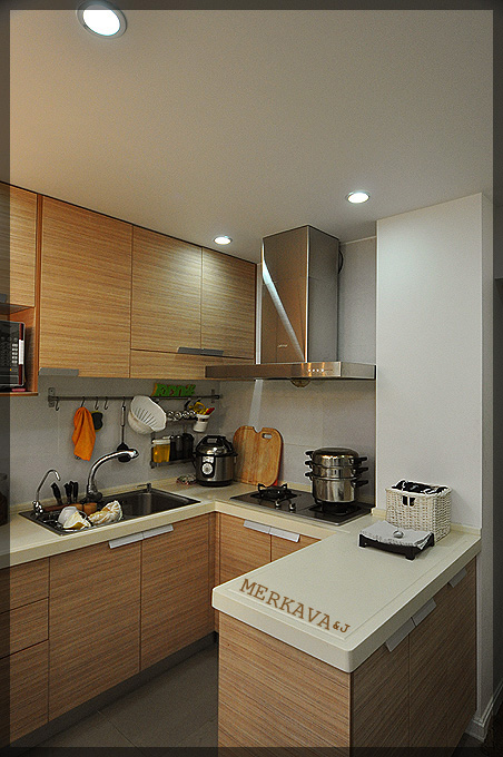 40平简约风一居小户型厨房橱柜装修效…