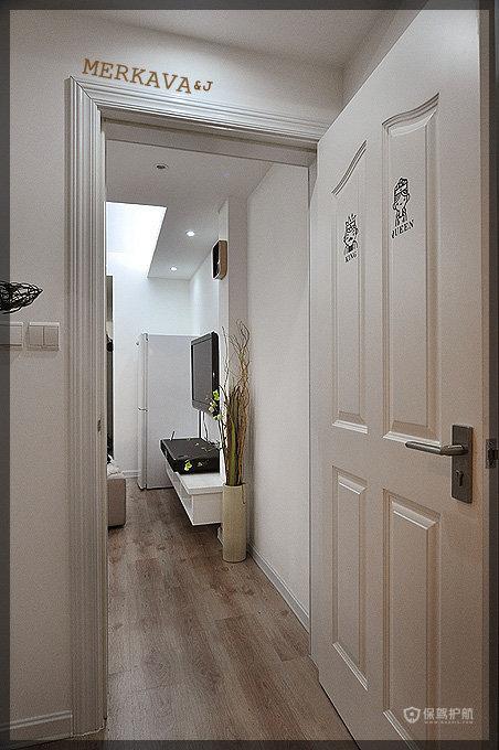 英式风格公寓精装房过道装潢效果图
