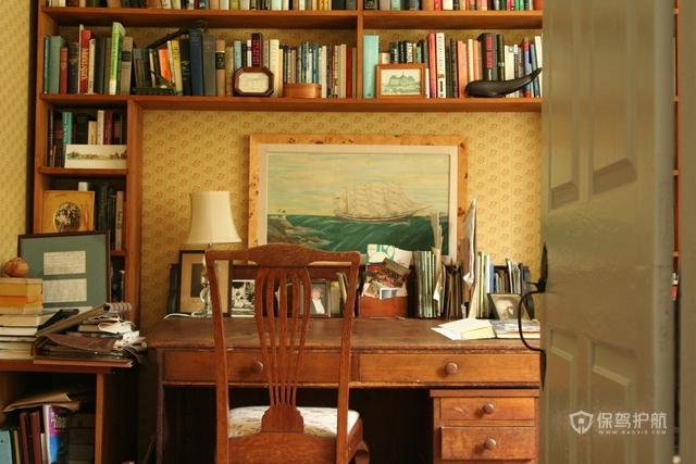 大户型欧式古典书房装潢效果图