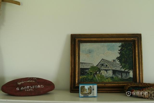 复古挂画三室客厅软装效果图