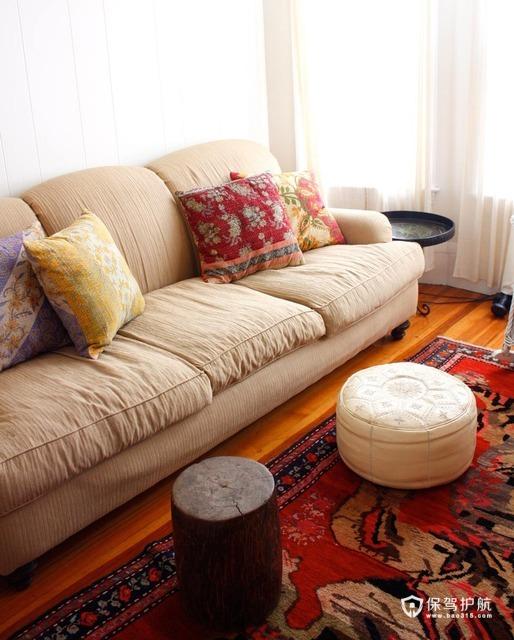 浓情异域风  东南亚式loft别墅 别墅装修,130平米装修,富裕型装修,东南亚风格,沙发