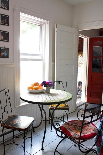 浓情异域风  东南亚式loft别墅 别墅装修,130平米装修,富裕型装修,东南亚风格,厨房,餐桌
