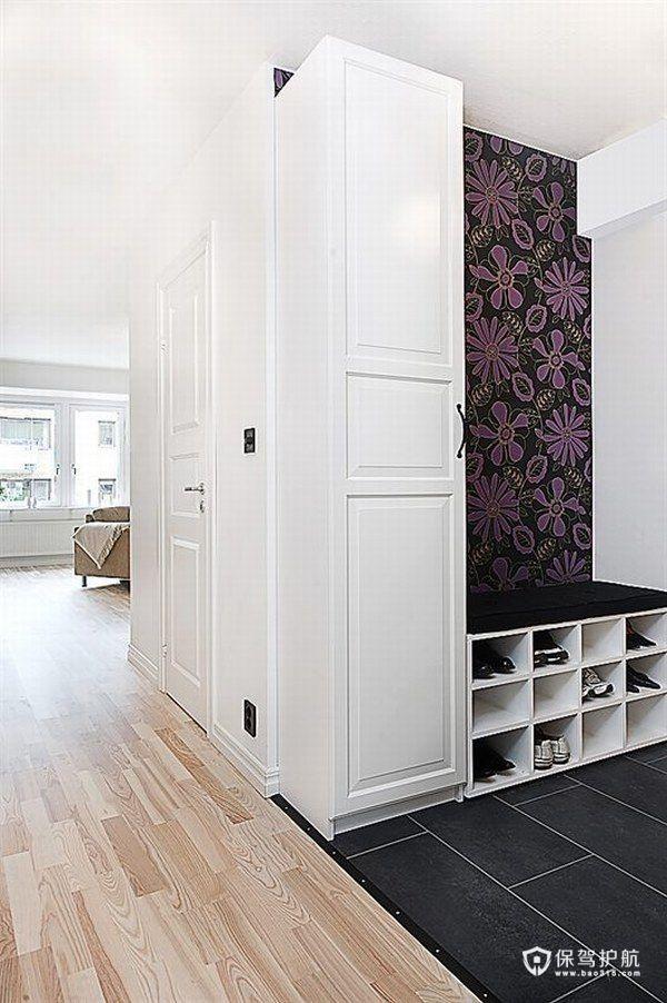花朵壁纸增色 北欧风简约公寓