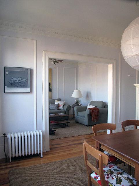 90平一居室清新简约公寓餐厅装修效果图