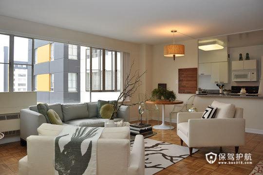简约富裕二居 享受简单舒适生活 二居室装修,富裕型装修,简约风格,海外家居,客厅,简洁,舒适,沙发,茶几,灯具