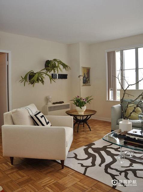 简约富裕二居 享受简单舒适生活 二居室装修,富裕型装修,简约风格,海外家居,客厅,简洁,沙发,茶几,背景墙
