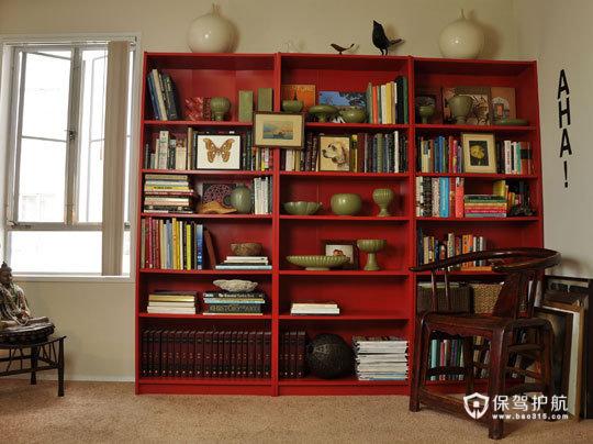 简约富裕二居 享受简单舒适生活 二居室装修,富裕型装修,简约风格,海外家居,书架