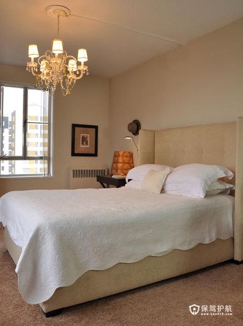 简约富裕二居 享受简单舒适生活 二居室装修,富裕型装修,简约风格,海外家居,卧室,简洁,床,灯具,卧室背景墙