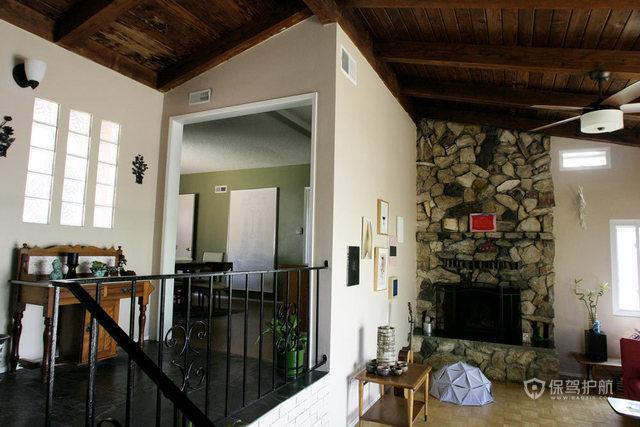 文艺挑高洋楼 处处弥漫家的温馨 跃层装修,100平米装修,经济型装修,欧式风格,海外家居,楼梯