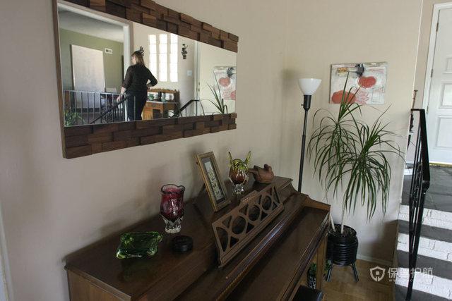 文艺挑高洋楼 处处弥漫家的温馨 跃层装修,100平米装修,经济型装修,欧式风格,海外家居,边柜,楼梯