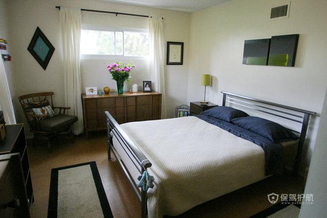 文艺挑高洋楼 处处弥漫家的温馨 跃层装修,100平米装修,经济型装修,欧式风格,海外家居,卧室,床,舒适