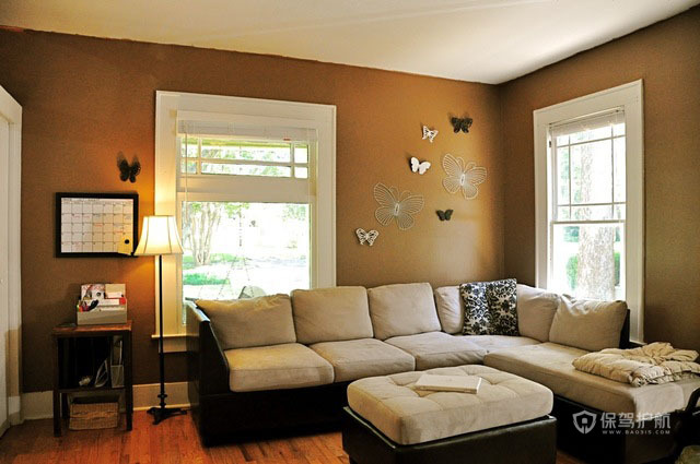 简约温馨三居客厅沙发背景墙装修效果图
