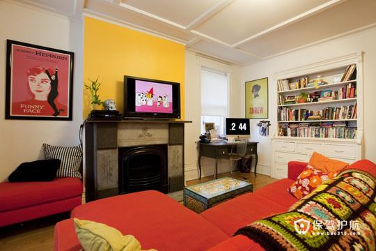 色彩拼搭出韵味 东南亚风两居室公寓