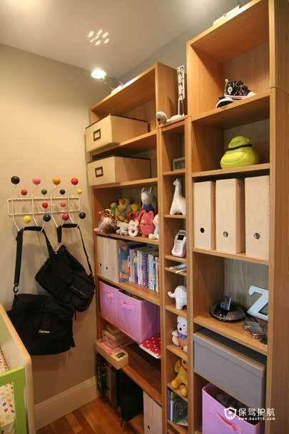 裸色儿童房 给孩子一个自然舒适小空间 小户型装修,公寓装修,70平米装修,简约风格,海外家居,儿童房,收纳柜