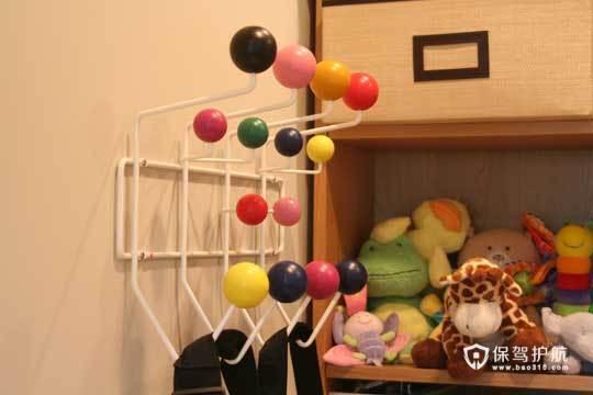 裸色儿童房 给孩子一个自然舒适小空间 小户型装修,公寓装修,70平米装修,简约风格,海外家居,儿童房
