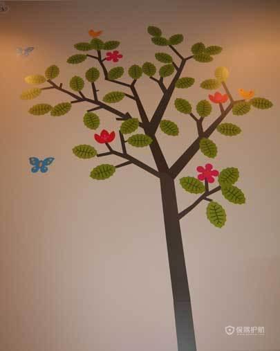 裸色儿童房 给孩子一个自然舒适小空间 小户型装修,公寓装修,70平米装修,简约风格,海外家居,儿童房,墙贴
