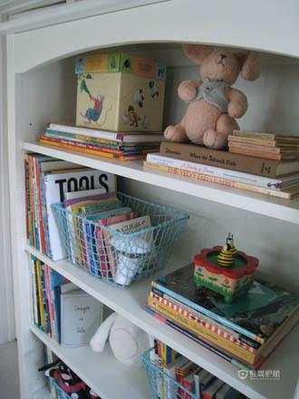 宝宝新天地 能干奶爸巧造精美儿童房 公寓装修,小户型装修,70平米装修,欧式风格,儿童房,白色,书柜