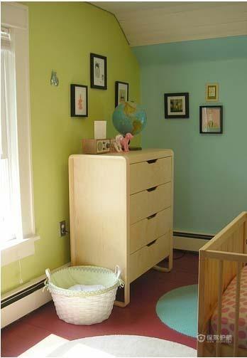 米兰风格两室一厅20平米儿童房墙面装修效果图