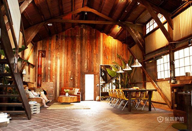 美式乡村挑高 4.8万打造的温馨小木屋