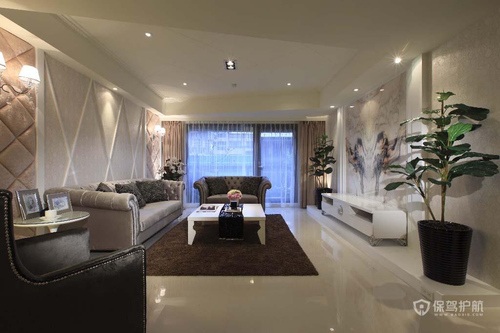 明亮色系融合 三房两厅公寓房