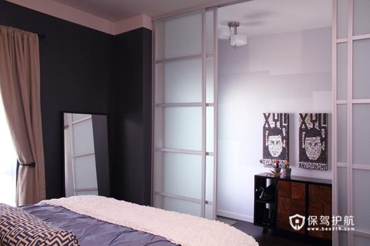 温馨简约卧室 令人心动的二居 二居室装修,富裕型装修,简约风格,海外家居,卧室,床,窗帘,卧室背景墙