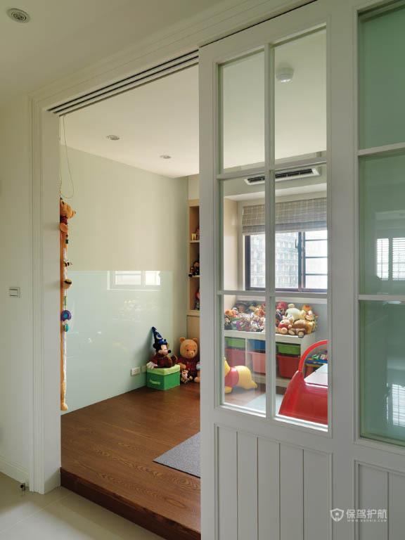 四室一厅乡村风格客厅隔断门效果图