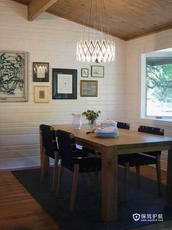 亲切质朴阁楼 实木打造原生态自然家居 阁楼,复式装修,经济型装修,简约风格,海外家居,餐厅,餐桌,灯具