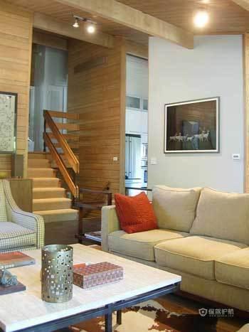 亲切质朴阁楼 实木打造原生态自然家居 阁楼,复式装修,经济型装修,简约风格,海外家居,客厅,沙发,茶几