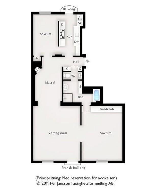最爱白色宜家风 打造两居室色彩美家