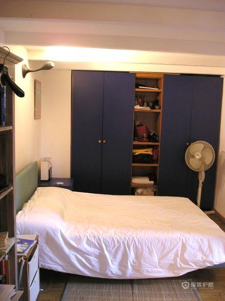 西班牙风格两室一厅卧室实木衣柜软装效果图