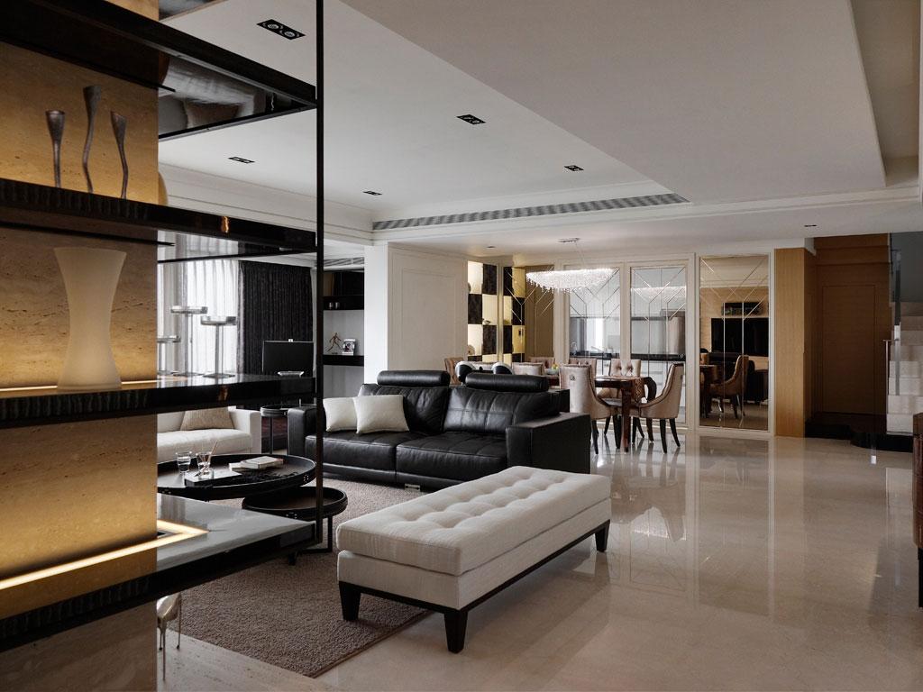 现代风格三室一厅40平轻奢软装效果图…