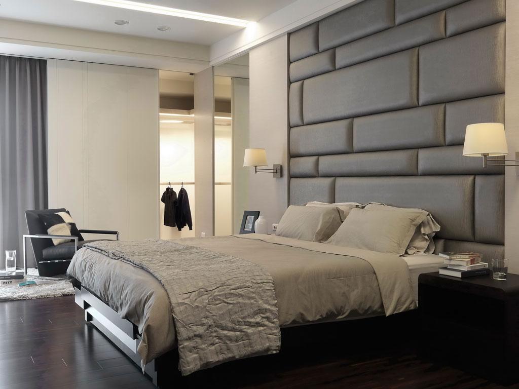 現代簡約高檔公寓主臥衣帽間裝修效果…