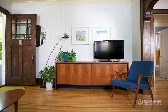 100平田园风格公寓实木装修效果图