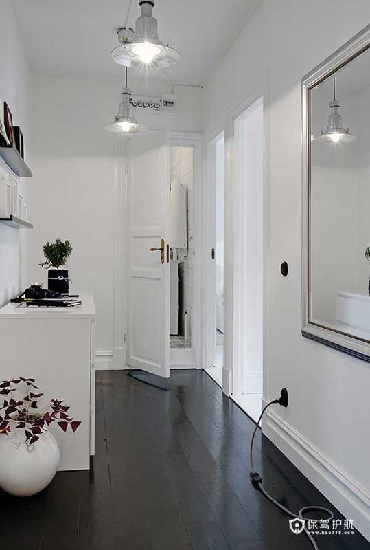 客餐厨开放空间 黑白年轻家庭公寓
