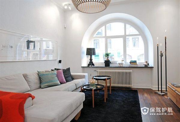 火红热情背景墙  时尚有型一居室